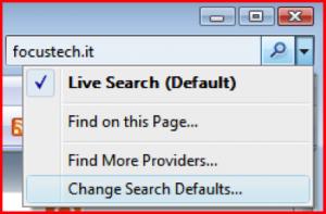 [Easy trick #7]Come impostare google come motore di ricerca predefinito nella barra di ricerca