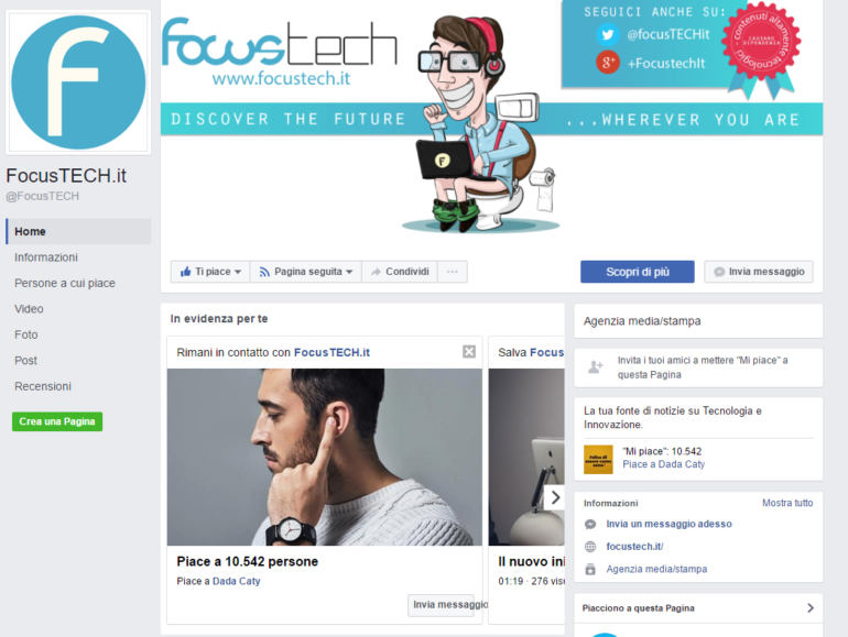 focustech su facebook