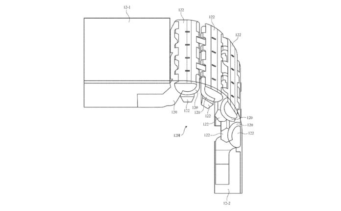 Apple iPhone pieghevole brevetto