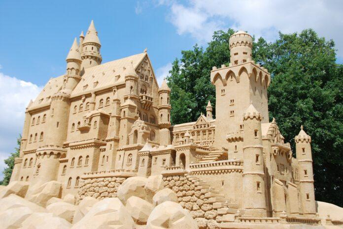 sabbia, castelli di sabbia, matematica
