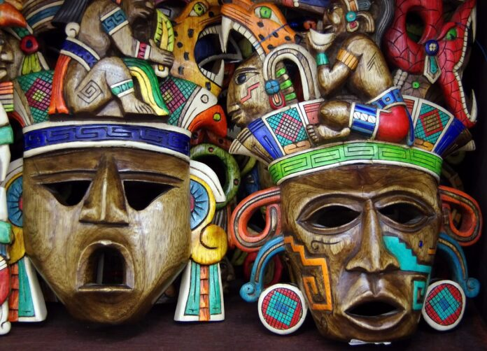 maya, mistero, scoperta, maschera