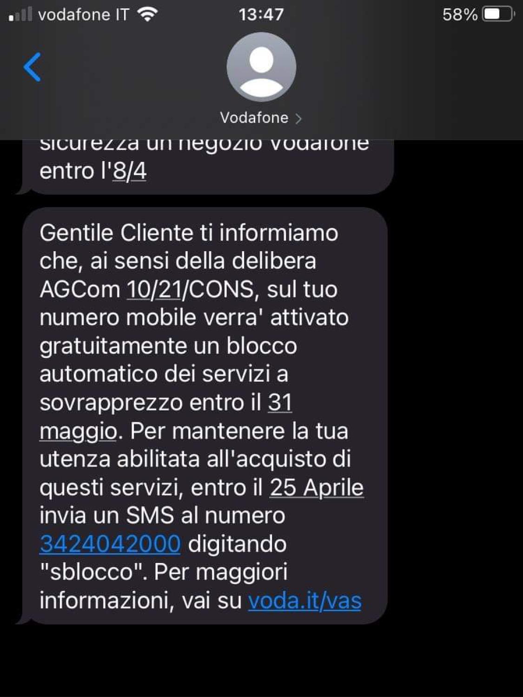 Vodafone SMS VAS
