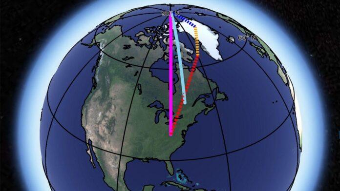 deriva polare, cambiamenti climatici, spostamento dell'asse terrestre