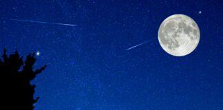 meteore, pioggia di stelle, stelle cadenti, superluna