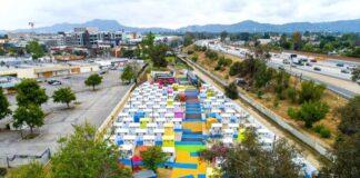 Los Angeles villaggio senzatetto