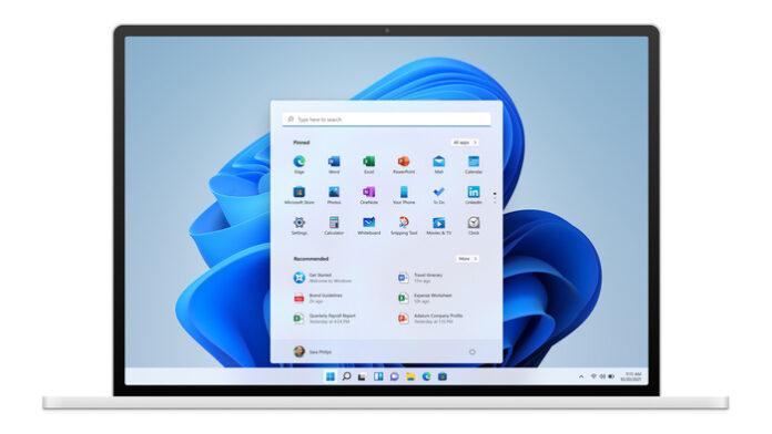 Windows 11 aspetto Mac